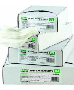 Buste adesive c5 trasparenti