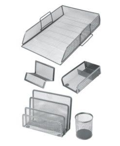 Desktop set da scrivania metallo per ufficio