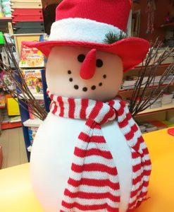 Pupazzo di neve sciarpa naso cappello