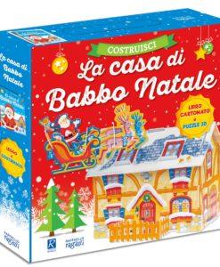 costruisci la casa di Babbo Natale puzzle e libro