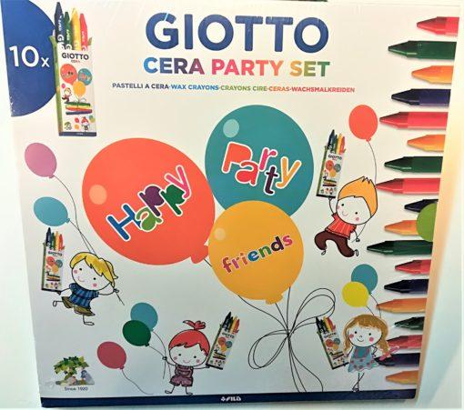 giotto party set scatoline cera per invitati alla festa