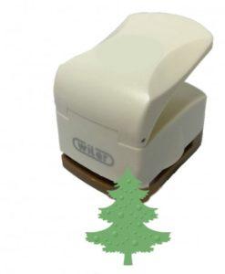Fustella Albero di Natale 32mm a rilievo