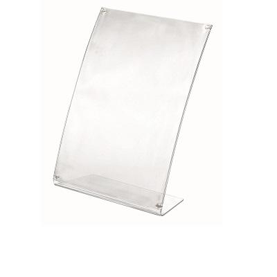 cornice portadepliant trasparente