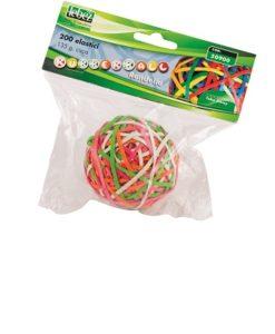 sfera di elastici colori assortiti peso 135gr. Lebez 50900
