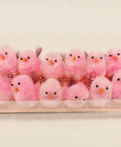 pulcini rosa ali variopinte 16 pezzi