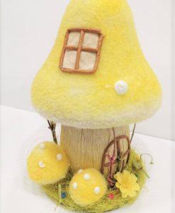 Casa fungo puffi in polisterolo per decorazioni