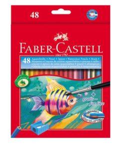 pastelli acquerellabili con punta idrosolubile da 48 pezzi colorati
