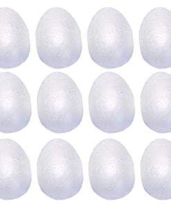 12 uova di polistirolo da 5 cm per decorazioni pasqua