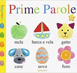 libro prime parole tattile cartonato per bambini