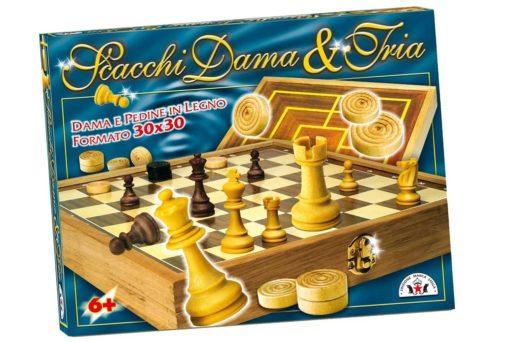 scacchi dama e tria marca stella