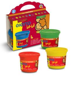 colori a dita 4 barattoli diversi colori per bambini