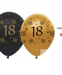 set 10 palloncini nero dorato per 18 anni