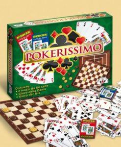 set poker 54 carte da gioco più gioco dama