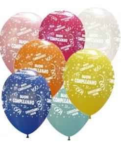 palloncini con scritta buon compleanno lattice