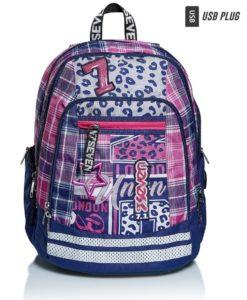 zaino-seven-scuola-fucsia-blu-patch-vernice-glitter