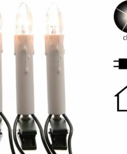 serie di candele elettriche luminose per albero di natale