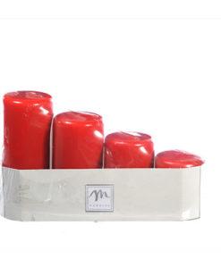 candele di natale rosse assortite