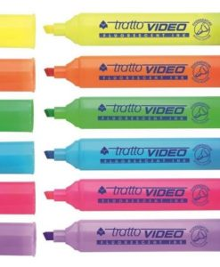 evidenziatore tratto fluo colorato