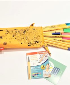 pennarelli stabilo point 88 colori assortiti in astuccio lavabile