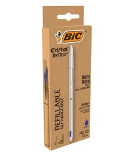 penna-bic-metallo-ricaribile-con-2-refill