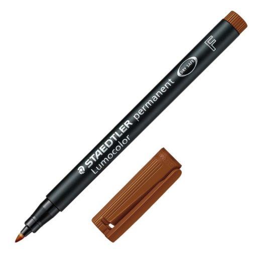 pennarello-staedtler-lumocolor-marrone-punta-f
