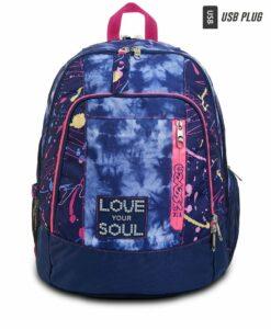 zaino seven femminile blu e rosa love your soul
