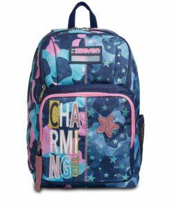 zaino femminile rosa e azzurro per la scuola