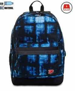 zaino con power bank 4000 mah colore blu
