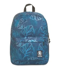 zaino invicta-compatto scuola superiore foliage foglie blu