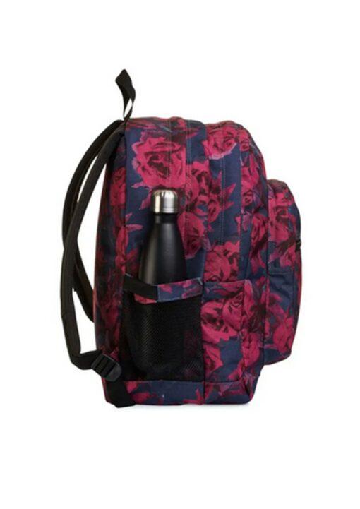 zaino invicta rose rosse tasca porta borraccia