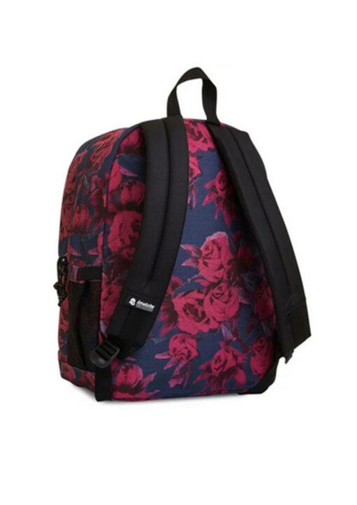 zaino invicta rose rosse schienale ergonomico