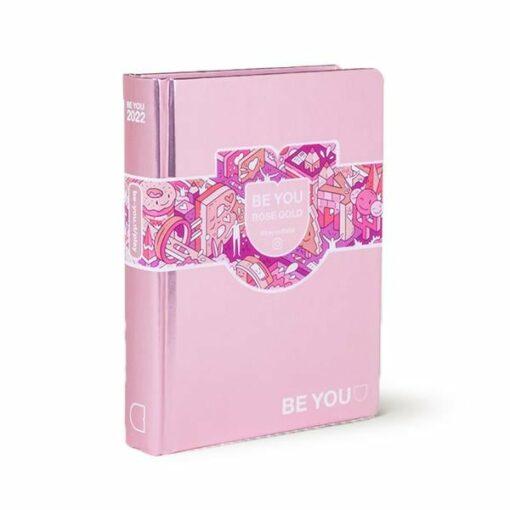 agenda personalizzabile rosa gold be you